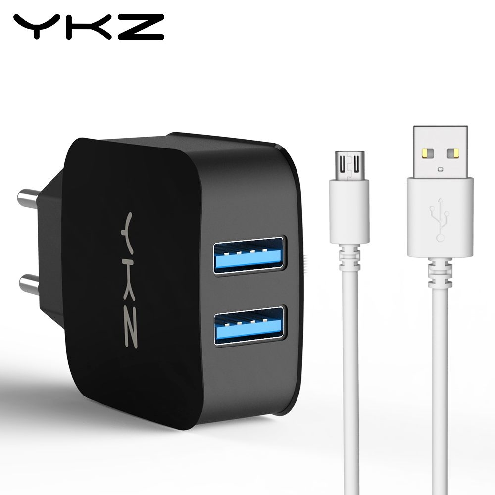Cool Ykz Universal Dual Usb Charger Eu Us Wall Charger Mobile Phone Charger For Iphone Samsung Xiaomi Huawei Usb Adapter Plug Y2 Phone Charger Usb Chargers Usb
