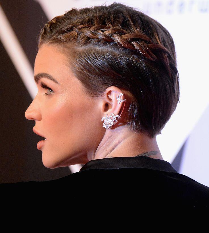 Ruby Rose Boxer Braids Short Hair Tranca Cabelo Curto Penteados Cabelo Curto Casamento Penteados Com Tranca