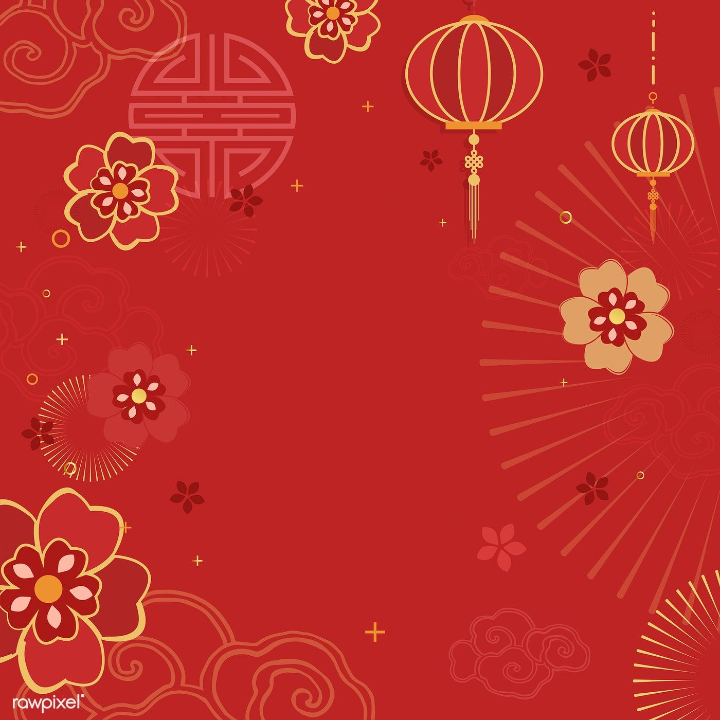 Chinese New Year 2019 Greeting Background Free Image By Rawpixel