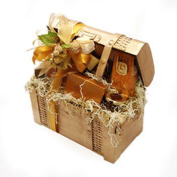 Treasure Chest Sweet Gourmet Gift To Uae Gourmet Gifts Chocolate Dome Godiva Chocolate