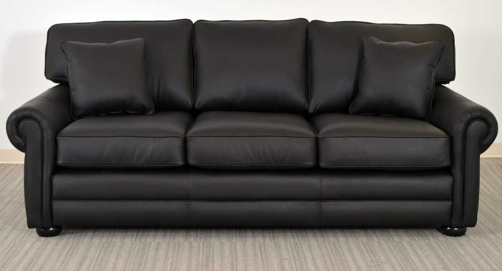 Lancaster Black Leather Sofa ‹‹ The Leather Sofa Company ...