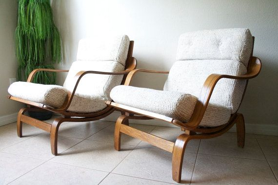 Ordinaire Mid Century Bentwood Lounge Chairs By By RetroTherapyRehab On Etsy, $1100.00
