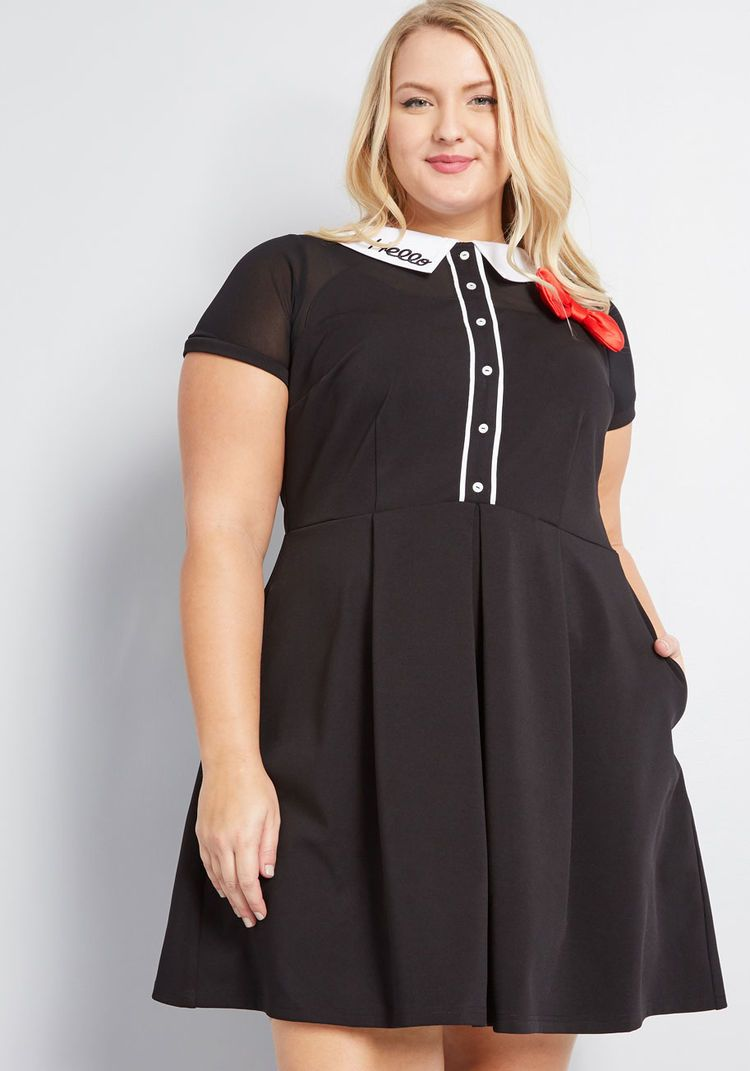 9a06d1937 Hello Kitty ModCloth for Hello Kitty Cheerful Greeting Collared Dress Black