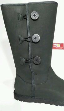 ad643a19f42 Black New Women's Annarosa Leather with with 3 Buttons Boots/Booties ...