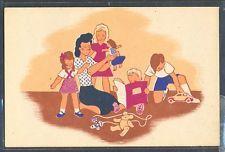 QA070 ART DECO MERE & ENFANTS JEUX JOUETS Poupée OURS en PELUCHE MOTHER KIDS TOY