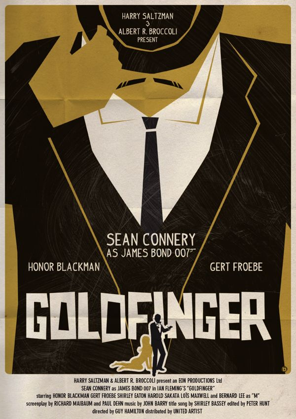 Vintage Style James Bond Posters By Alain Bossuyt James Bond