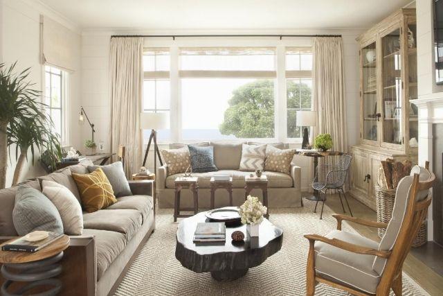 Rustikales Wohnzimmer ~ Wohnzimmer neutrale farben beige grau rustikales flair wohnideen