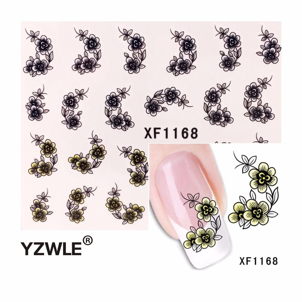 Visit to buy yzwle 1pcs nail art water sticker nails beauty wraps cheap sticker nail art decals buy quality nail art decals directly from china nail wraps suppliers zko 1 sheet water transfer sticker nail art decals prinsesfo Choice Image