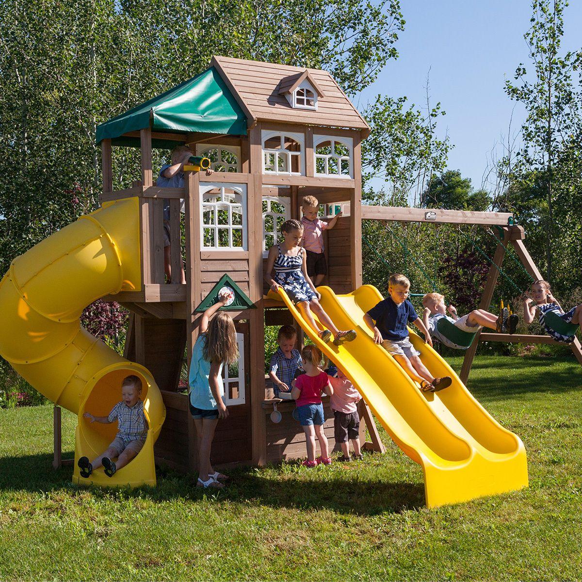 Cedar Summit Centro De Juegos Para Niños Costco Mexico Parque Infantil Al Aire Libre Juegos Para Niños Juegos Para Jardin
