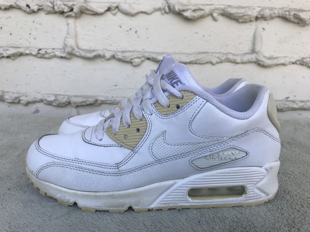 official photos 8d2d5 45a78 eBay  Sponsored EUC Nike Air Max 90 GS Youth Shoes White Size US 6.5Y EUR  39 307793-167