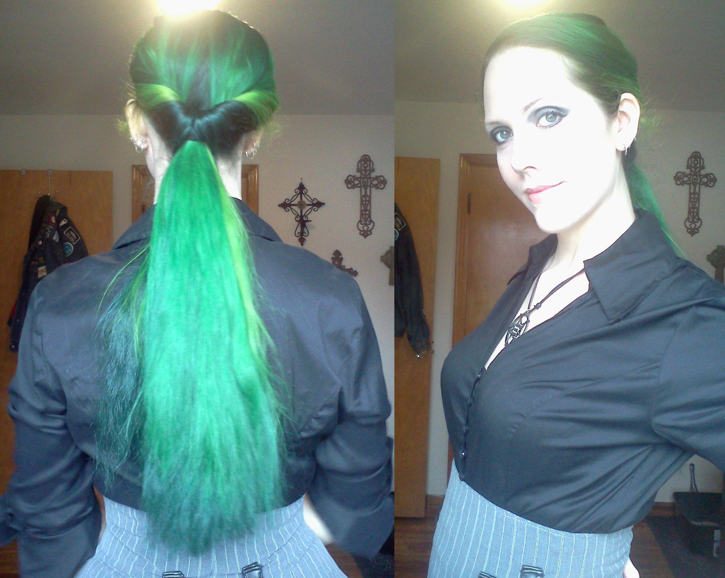 Sally van eycke sally mcwilliam van eycke green hair long