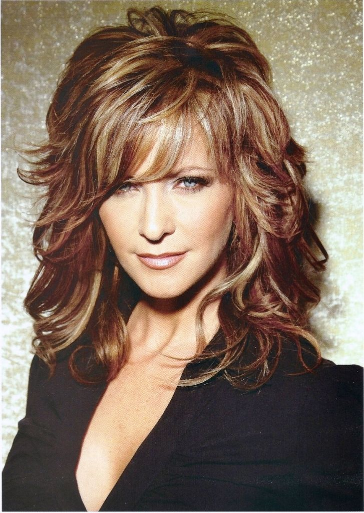 Short bangs medium length layered hairstyles