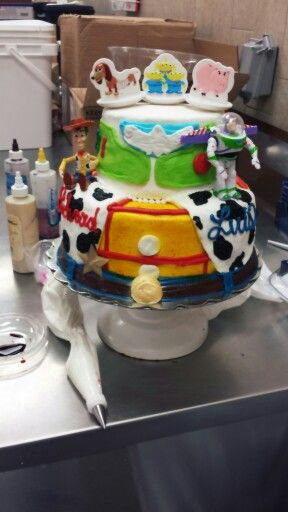 Toy Story Two Tier Cake Buttercream Walmart