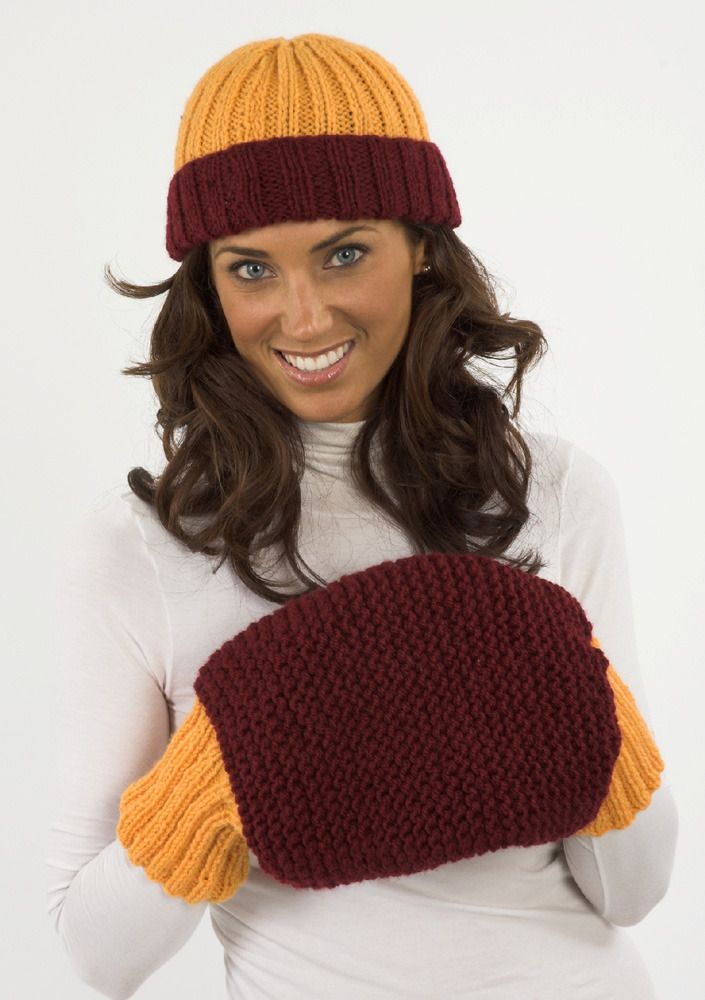 A Spectacular Set of Sports Fan FREE Knitting Patterns | Plymouth ...