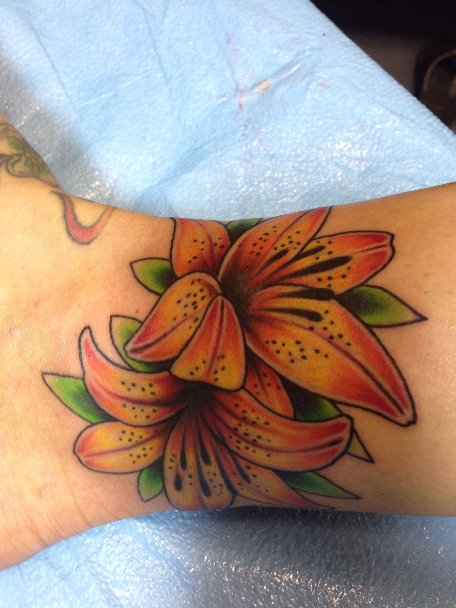 Tiger lily tattoo tattoos Pinterest