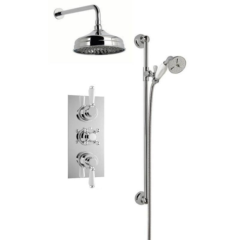 Traditional Thermostatic Triple Valve Complete Shower Set now only ...