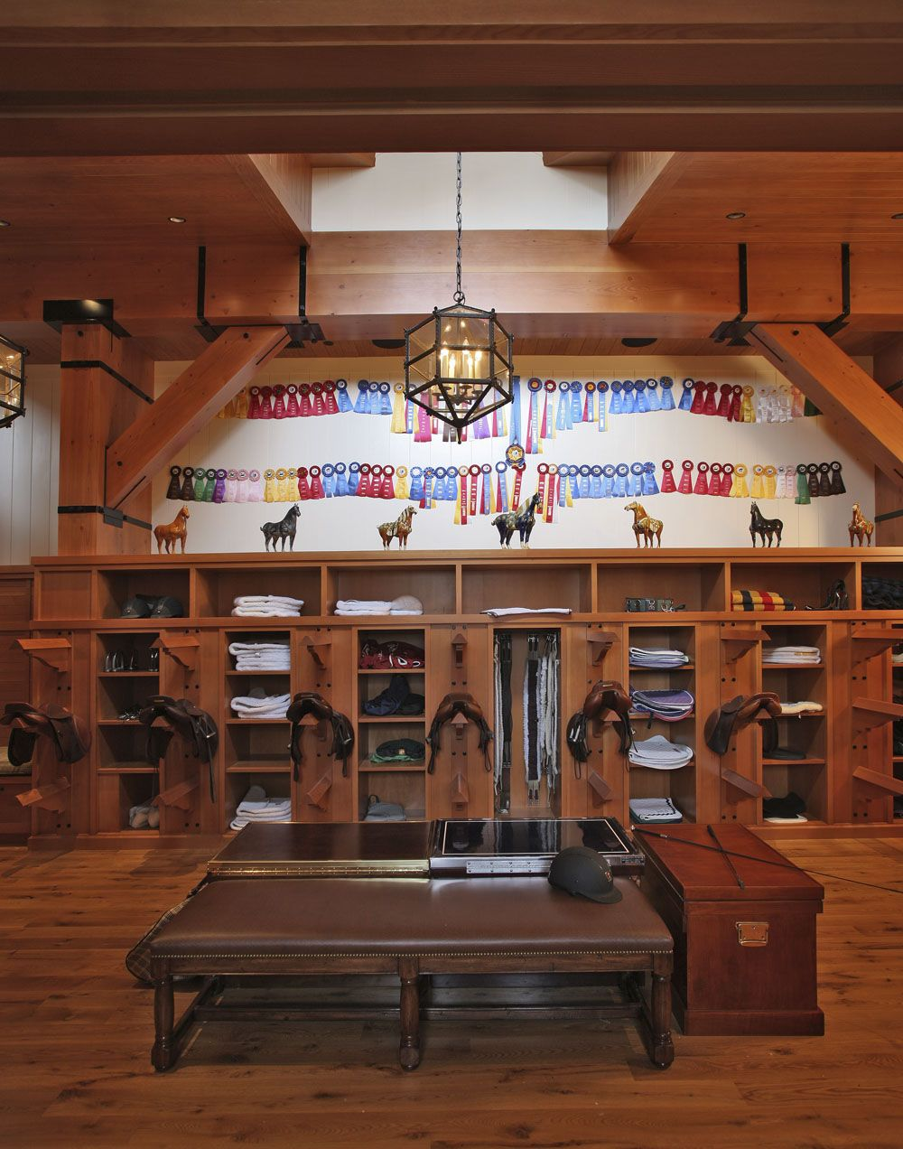 Tack Room Design Ideas Part - 20: Beechwood Stables AMAZING Tack Room With An Impressive Display Of Ribbons  And Model Horses (perhaps