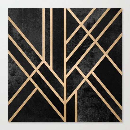 graphic, abstract, geometry, geometric, black, dark, lines, art deco ...