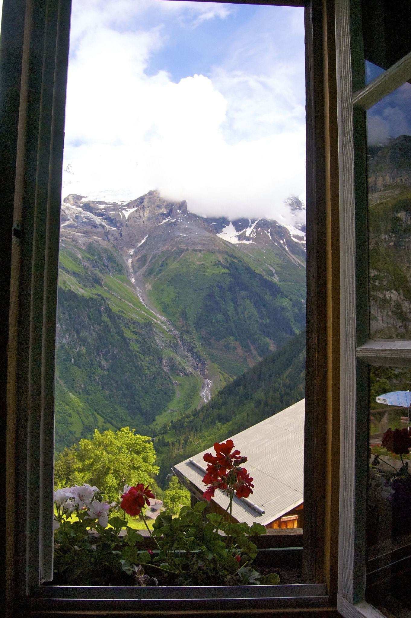 My Morning View Back Up In The Mountain Hostel Windows And