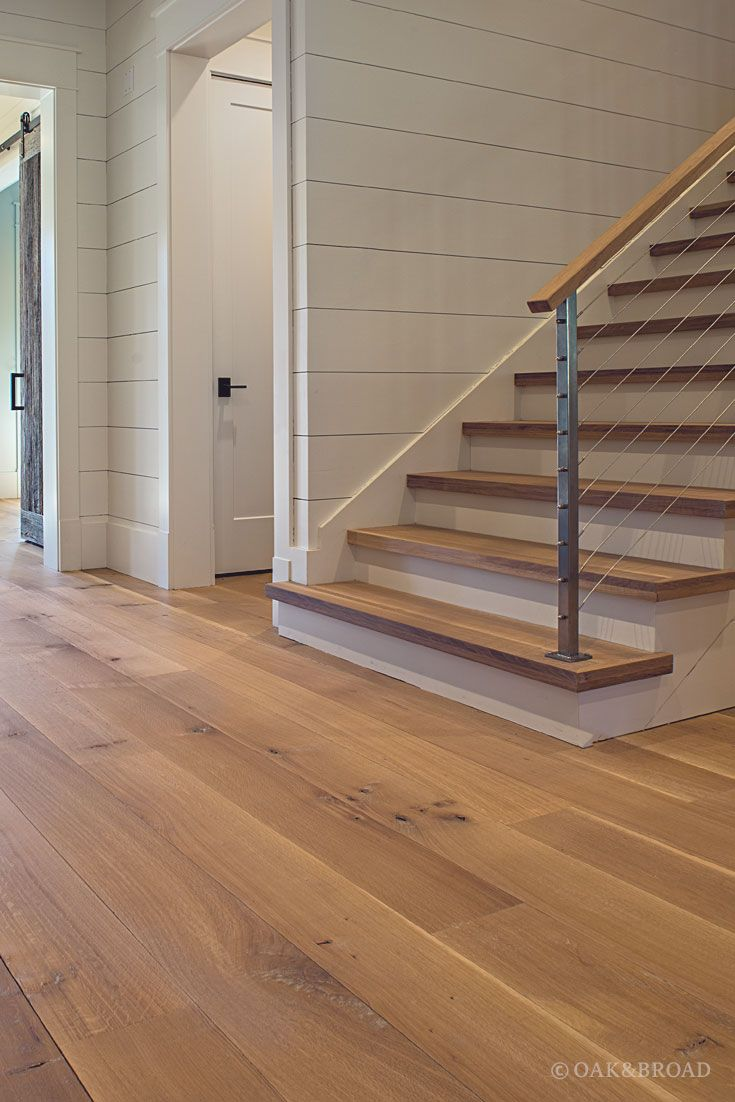 Wide plank white oak flooring in nashville tn modern for Hardwood decking planks