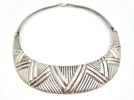 Structured Tribal Bib Collar Choker by RubysKisses on Etsy, $28.25