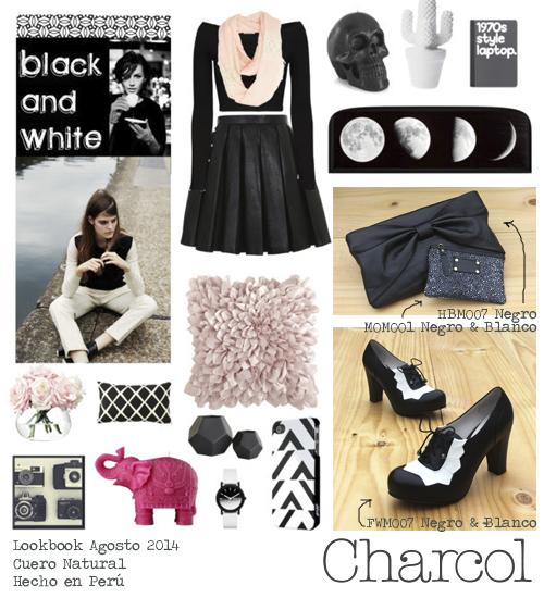 Look Black & White La cartera es HBM007  El monedero MOM001 Los zapatos FWM007 Pueden ver más sobre nuestros productos y puntos de venta en: https://www.facebook.com/charcoldesign