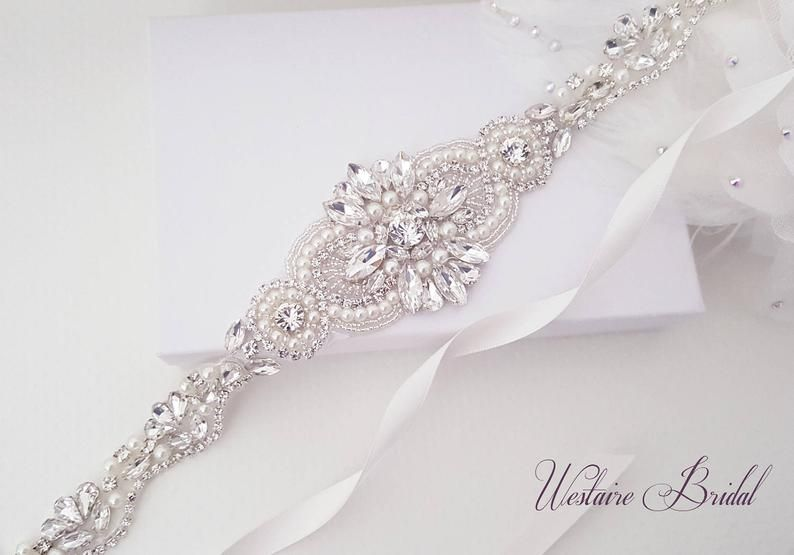 Wedding Belt Beaded Bridal Sash Crystal Wedding Belt Etsy Beaded Bridal Sash Bridal Sash Crystal Wedding Belts
