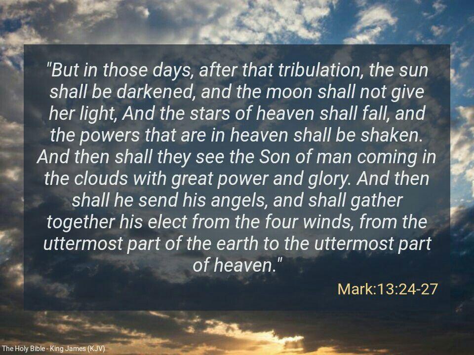 Kuvahaun tulos haulle Mark 13:24-27
