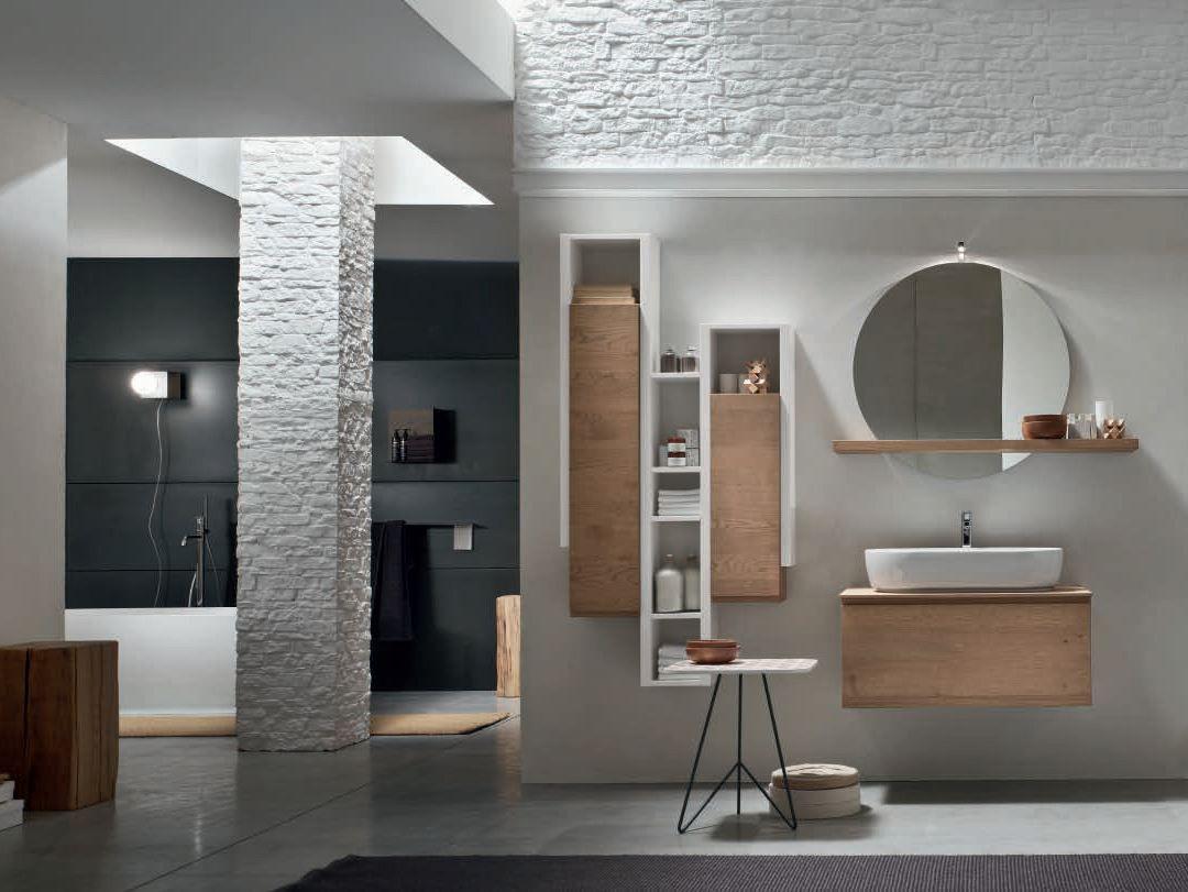 Great Oak Bathroom Cabinet / Vanity Unit SOUL   COMPOSITION 01   Arcom