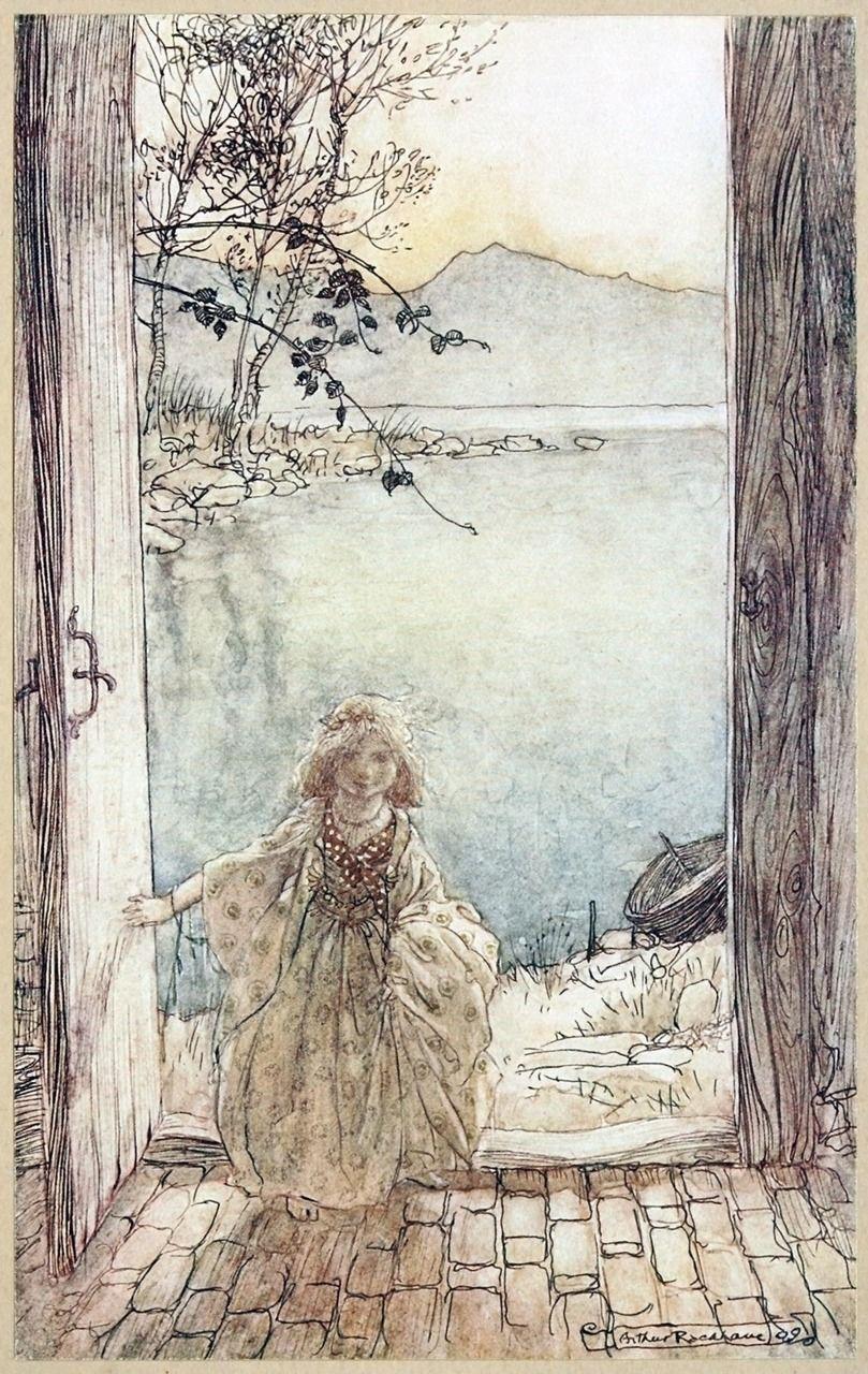 Arthur Rackham From Undine By De La Motte Fouque London 1909 Source Archive Org Art Du Conte De Fees Art Et Illustration Les Arts