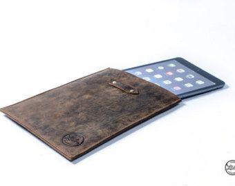 Leather IPAD MINI CASE - premium genuine leather sleeve cover - brown tan handmade apple retina display