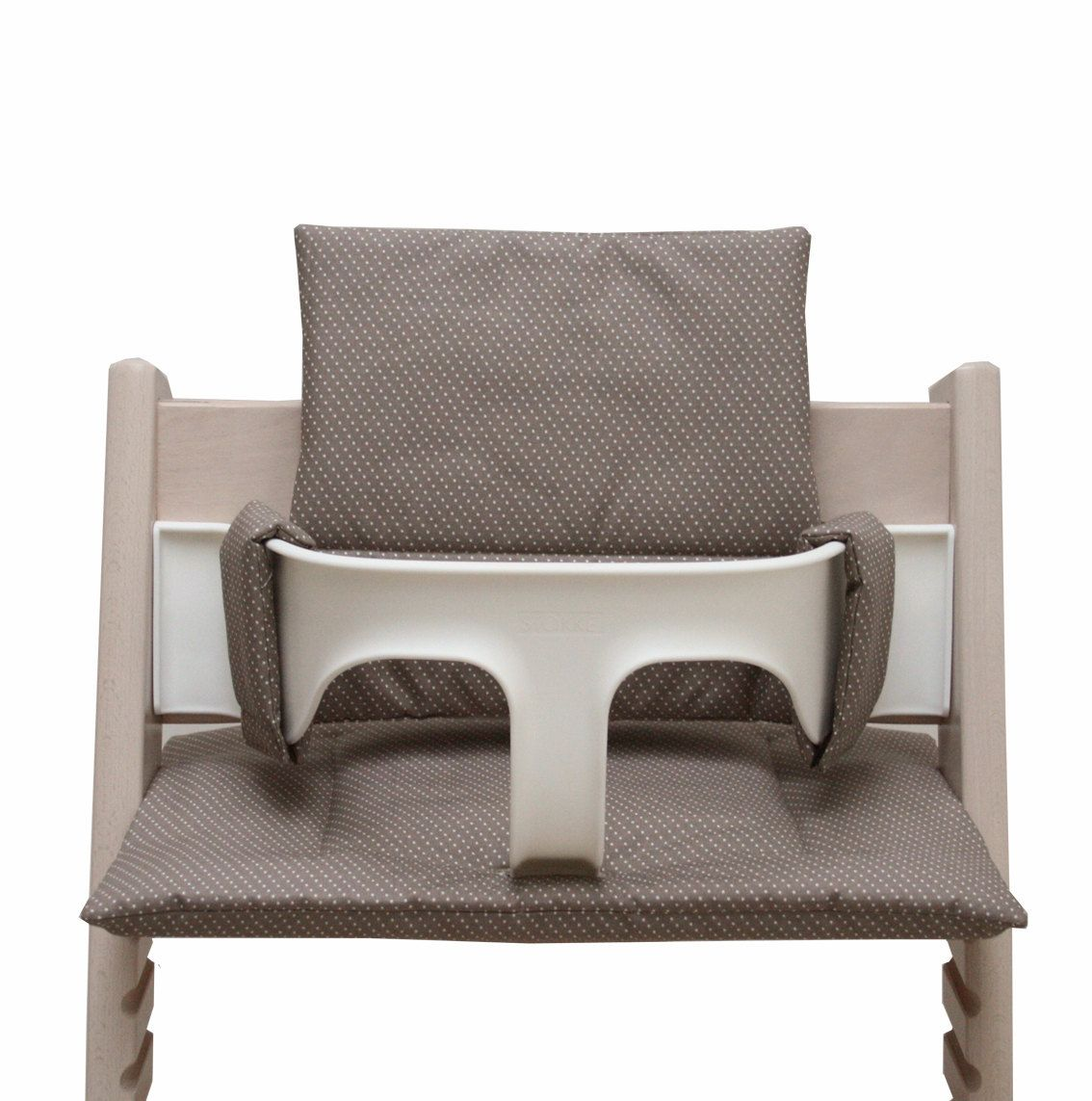Stokke Sitzkissen Abwaschbar Coated Cushion For Tripp Trapp High Chair Taupe With Dots Tripp