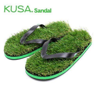 a138eaebd Beach Sandals · KUSA.サンダル 草サンダル 人工芝 ビーチサンダル Amazon.co.jp