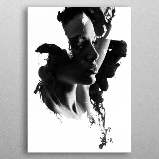 Inked woman : number 4 by Julien KALTNECKER | metal posters - Displate | Displate thumbnail