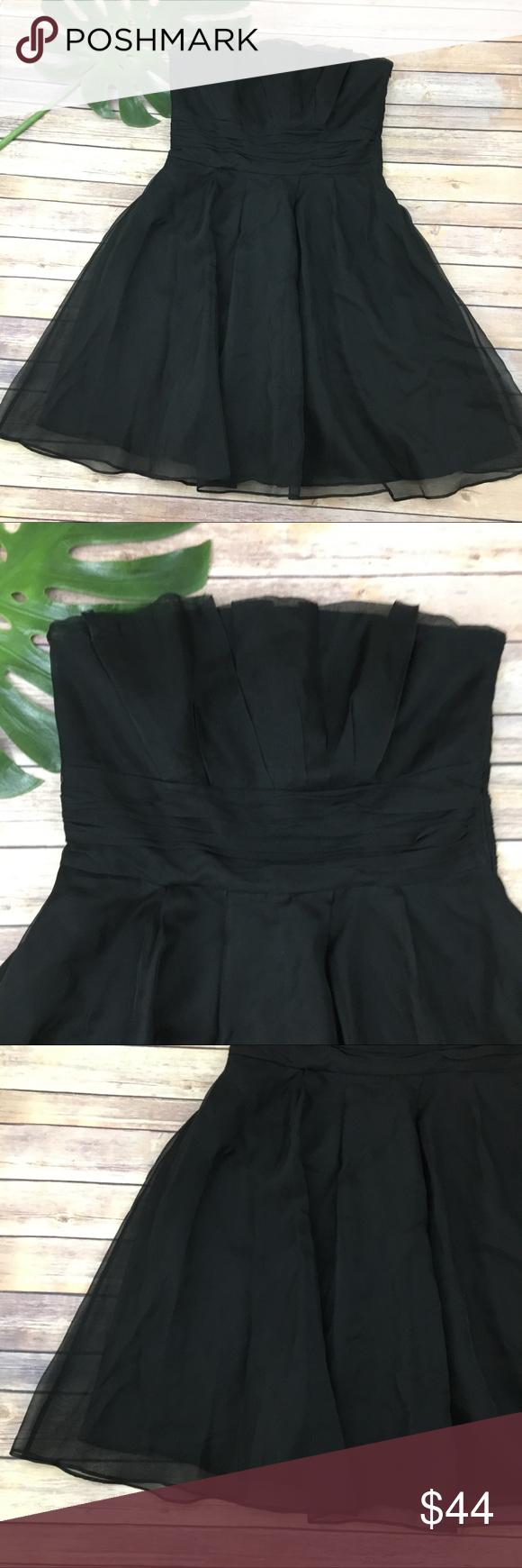 Black strapless dress size 14