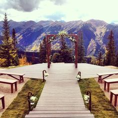 The Wedding Deck At Little Nell In Aspen Colorado