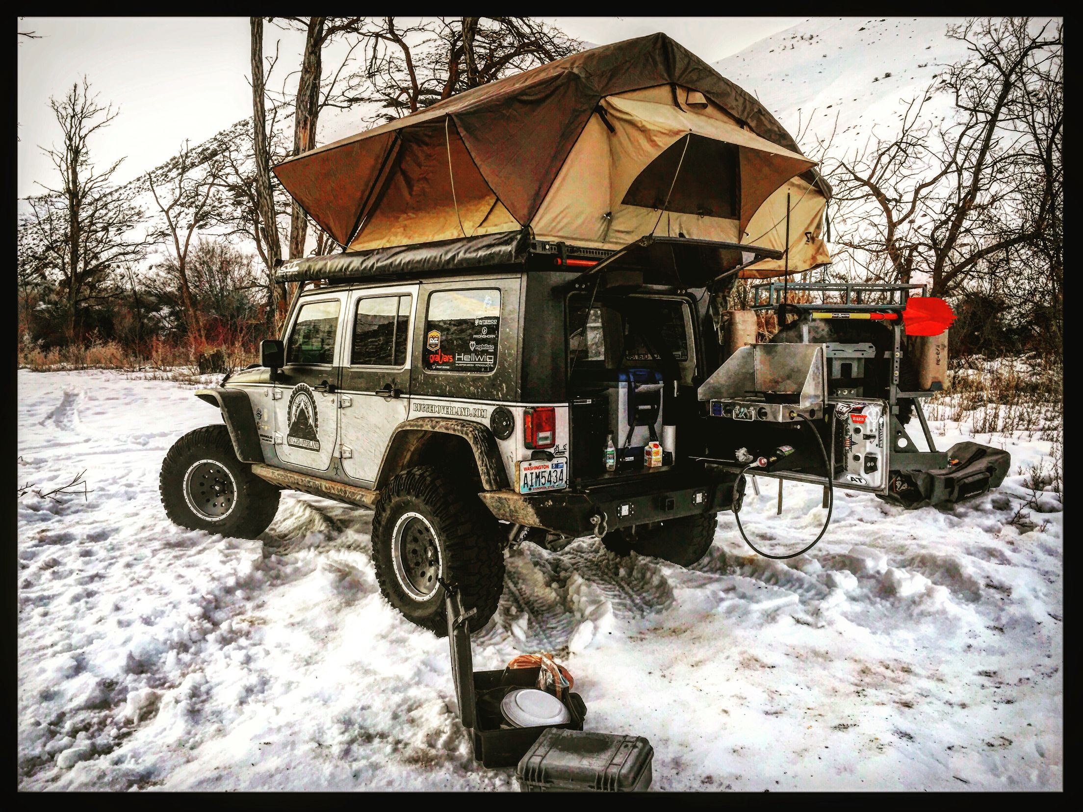 A Little Cold Weather Camping And Exploring Www Ruggedoverland Com Cold Weather Camping Overlanding Overland Vehicles