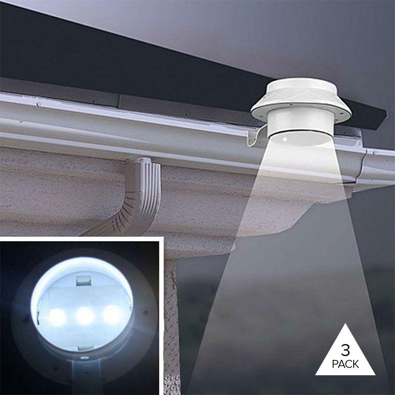 3 Pack Solar Power Led Light With Bracket Outdoor Garden Lighting Backyard Lighting Fence Lighting