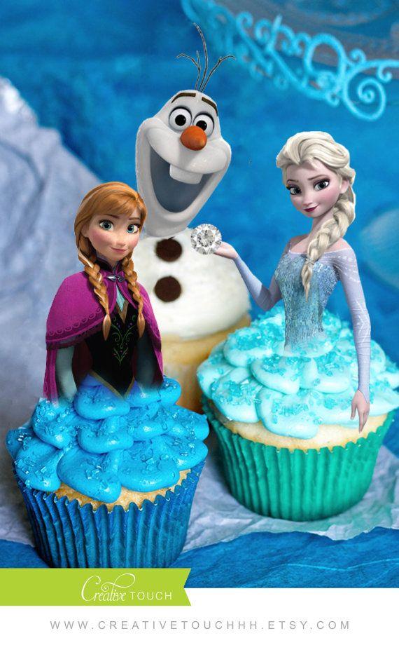 Frozen Cupcake Toppers Elsa Cupcake Toppers Frozen Birthday Elsa