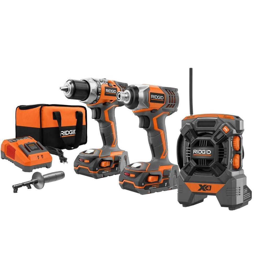 Lifetime Warranty A Drill A Driver And A Radio That Hooks Up To Your Mp3 Player Drill Combo Kit Tools