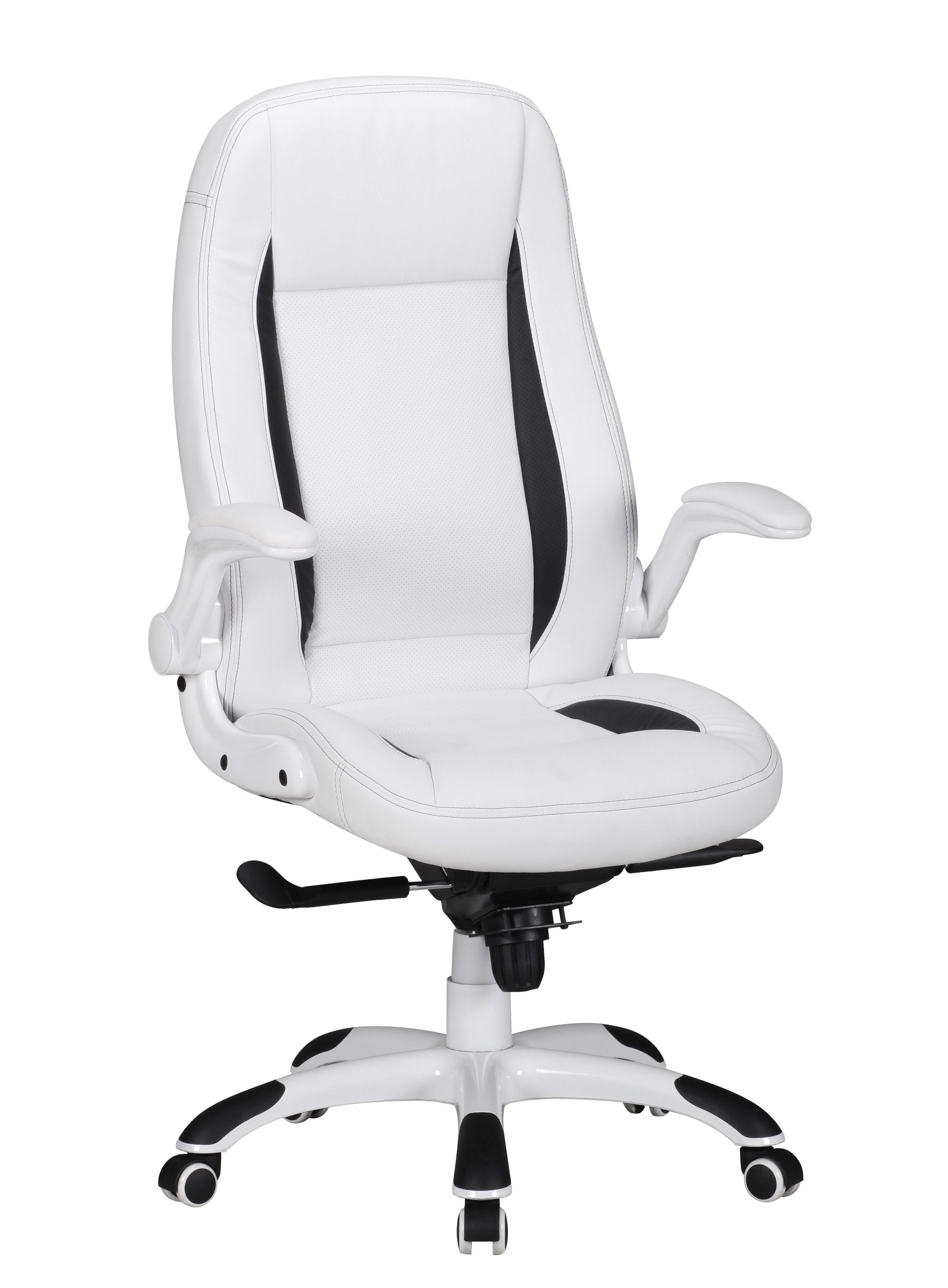 Chefsessel Belgrad Weiss Streifen Schwarz Mit Armlehnen Klappbar Office Chair Gaming Chair Chair