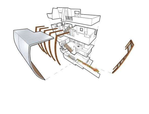 Funky 3d Exploded View Architectural Presentation Pinterest