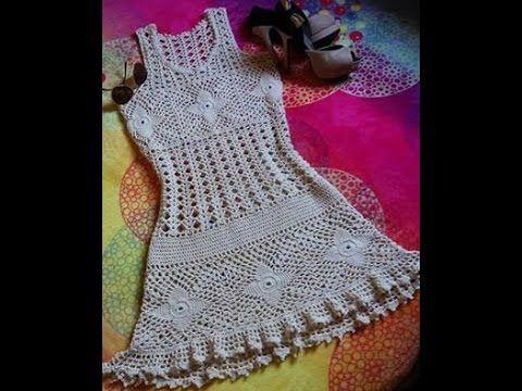 e63861ef9 crochet blusa o vestido para playa - YouTube   Arenita Playita! en ...