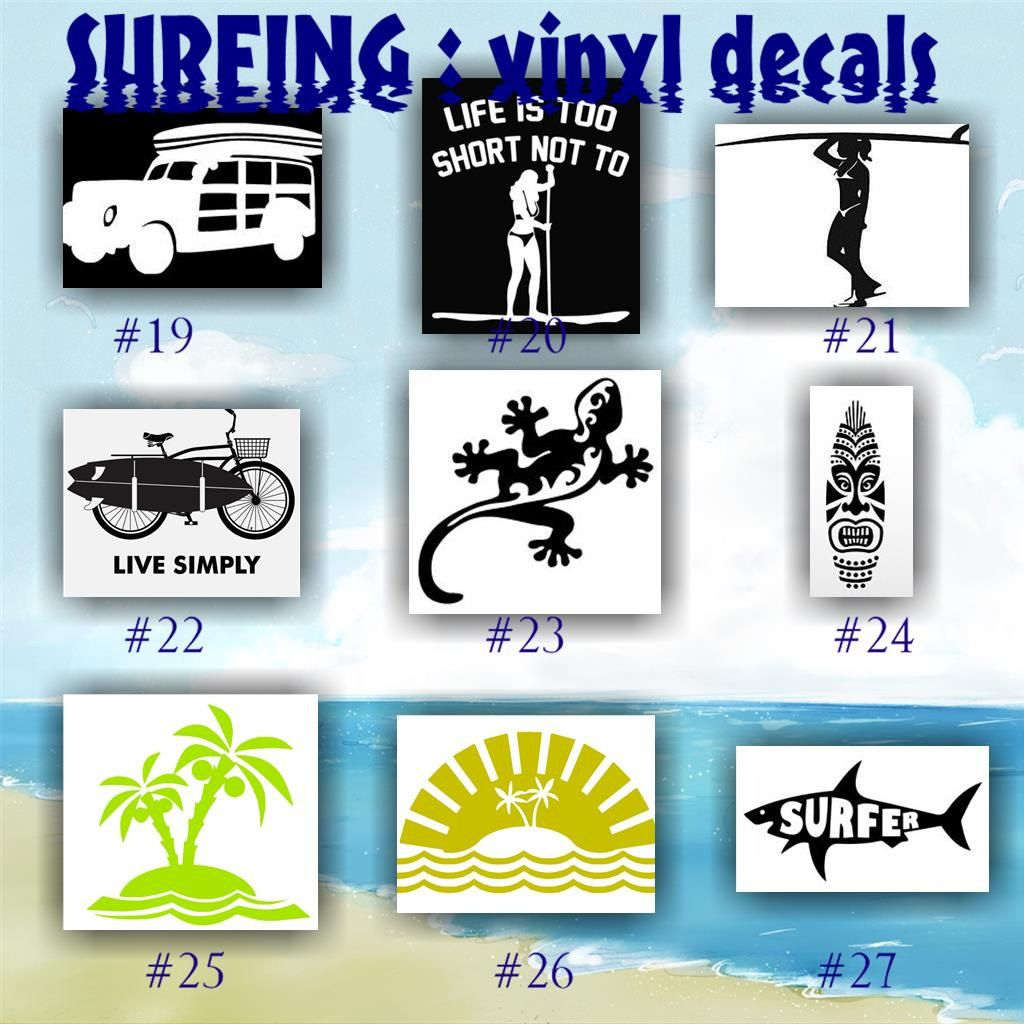 SURFING Vinyl Decals Car Sticker Custom Vinyl Decal - Car window vinyl decals custom