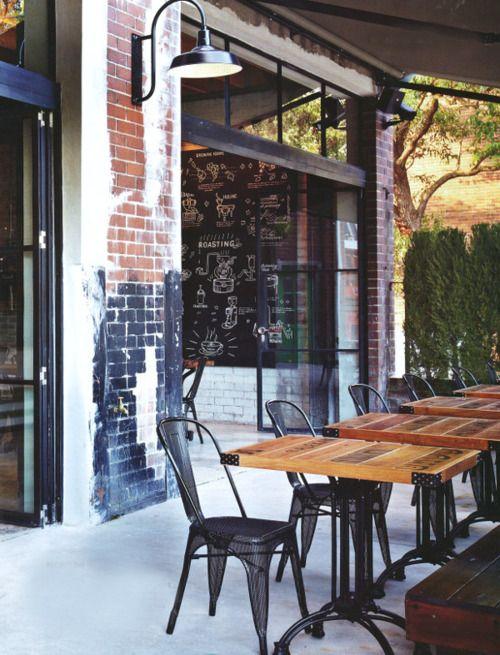 Love The Exposed Brick And Glass Garage Door Outdoor