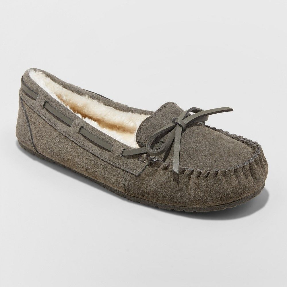 26e11925c7d Women s Chia Suede Slippers Gray 11