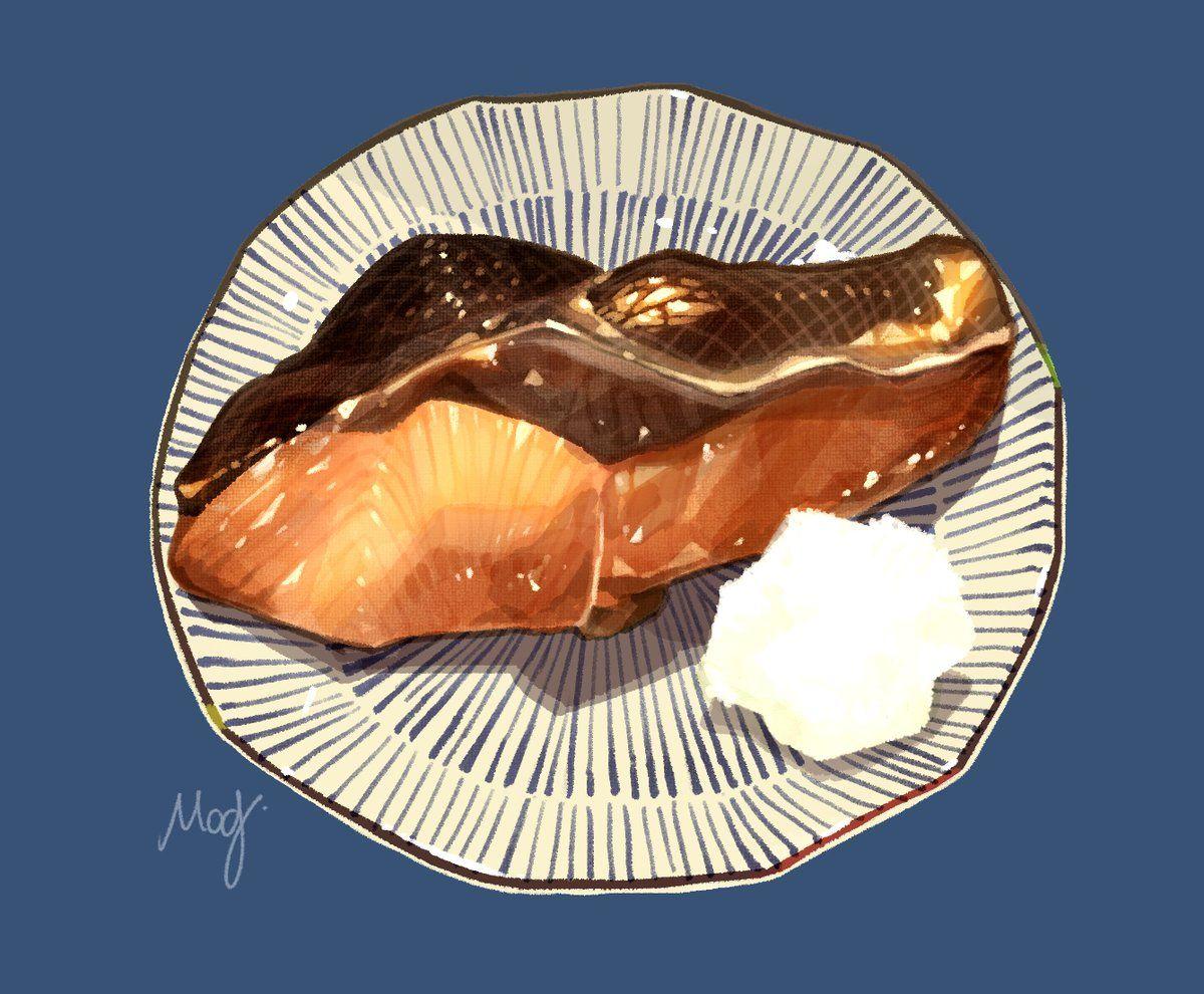 もみじ真魚 2 11comitiaの41a Mamomiji Twitter Food Artwork Watercolor Food Food Art