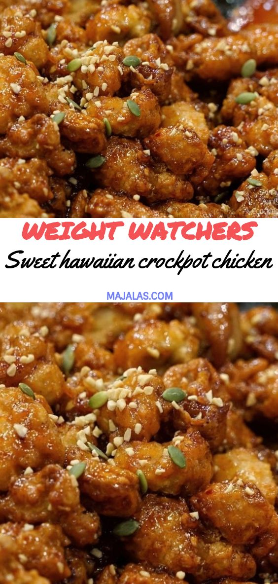 Sweet Hawaiian crockpot chicken #hawaiianfoodrecipes