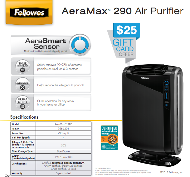 Fellowes Rebate Get a FREE 25 gift card with qualifying