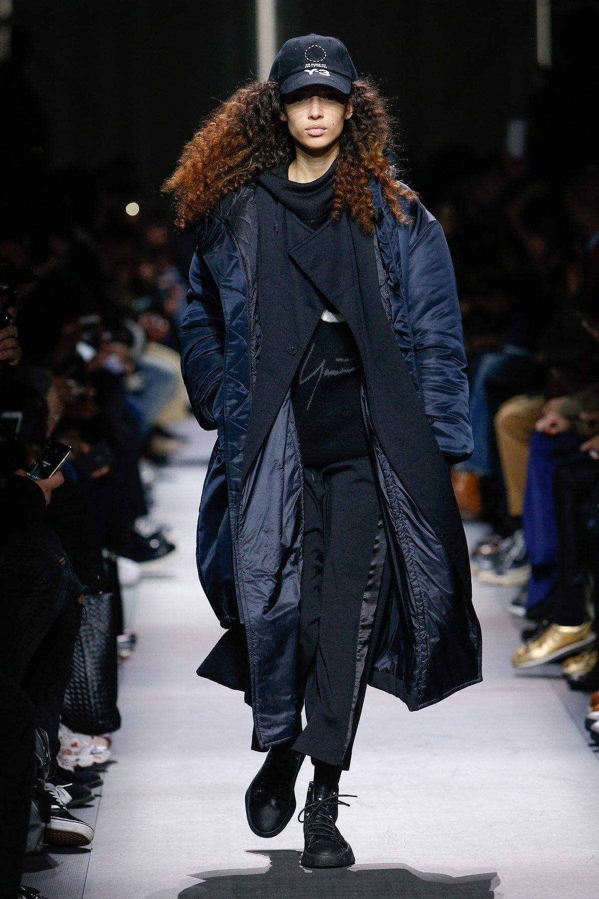 Fashion week Models female at menswear shows for girls